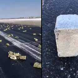 Gold, Platinum and Diamonds Pelt Siberia's Coldest City After Plane Spills Its Cargo