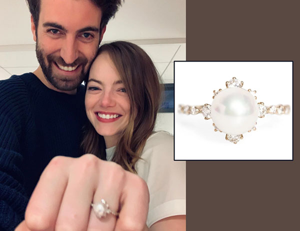 Here's Why Actress Emma Stone's Pearl Engagement Ring Is So Unconventional